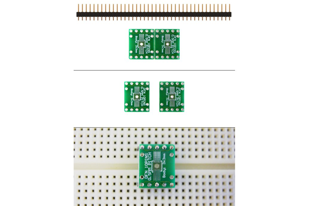 SchmartBoard|ez 0.5mm Pitch 10 Pin DFN to DIP adapter 1