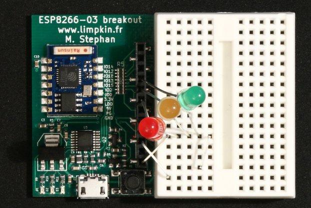 ESP8266 Wifi Module Breakout, USB, 3.3V, Prog But.