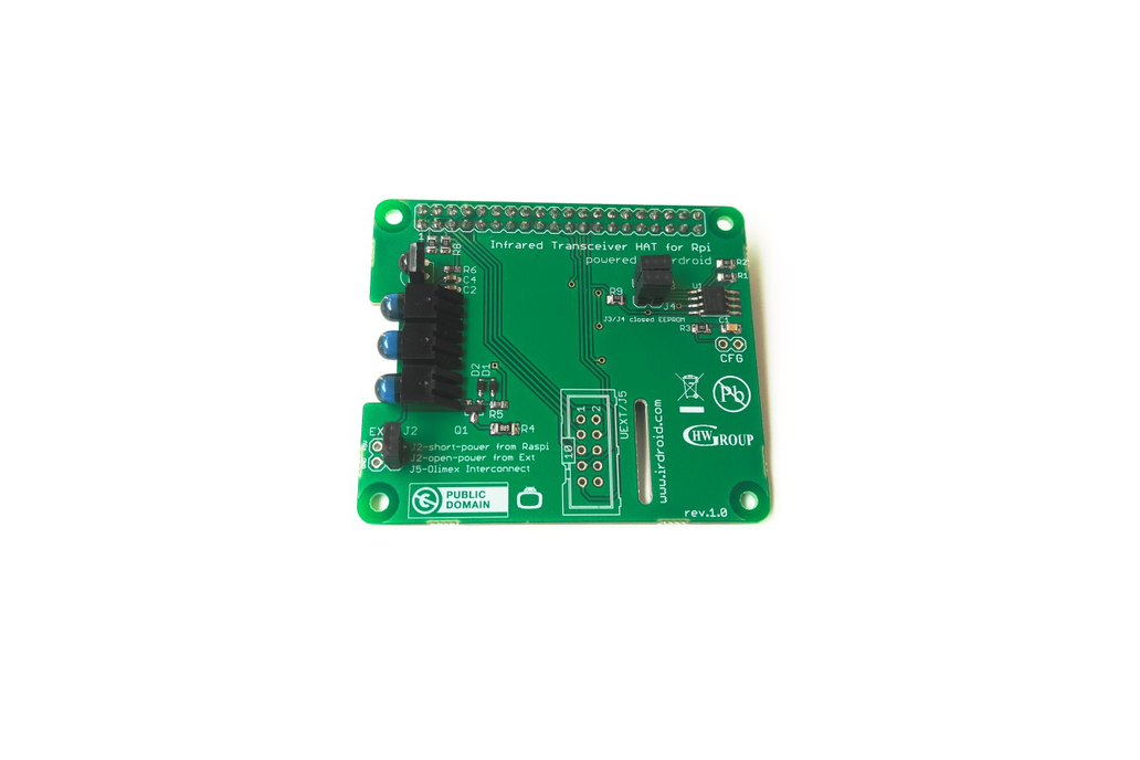 Irdroid-Rpi Infrared Transceiver for Raspberry Pi 1