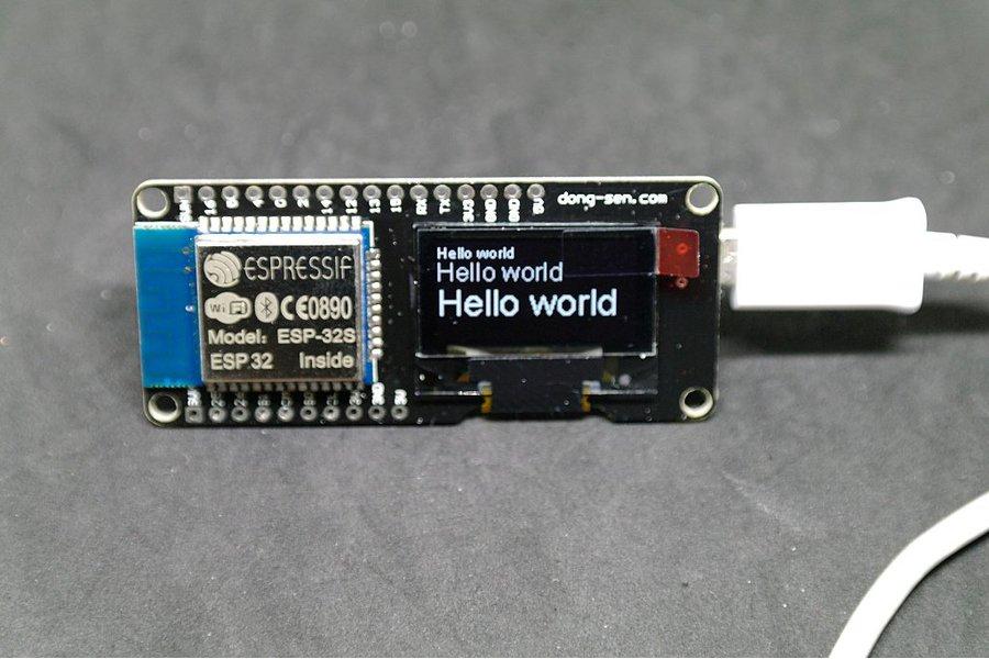 D-duino-32(ESP32&0.96OLED display)