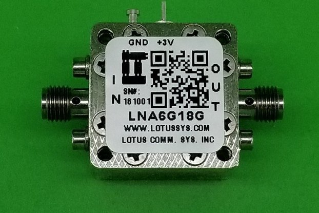Amplifier LNA 1.5dB NF 6GHz to 18GHz
