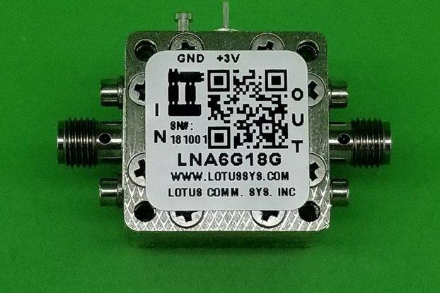 Amplifier LNA 1.5dB NF 6GHz to 18GHz