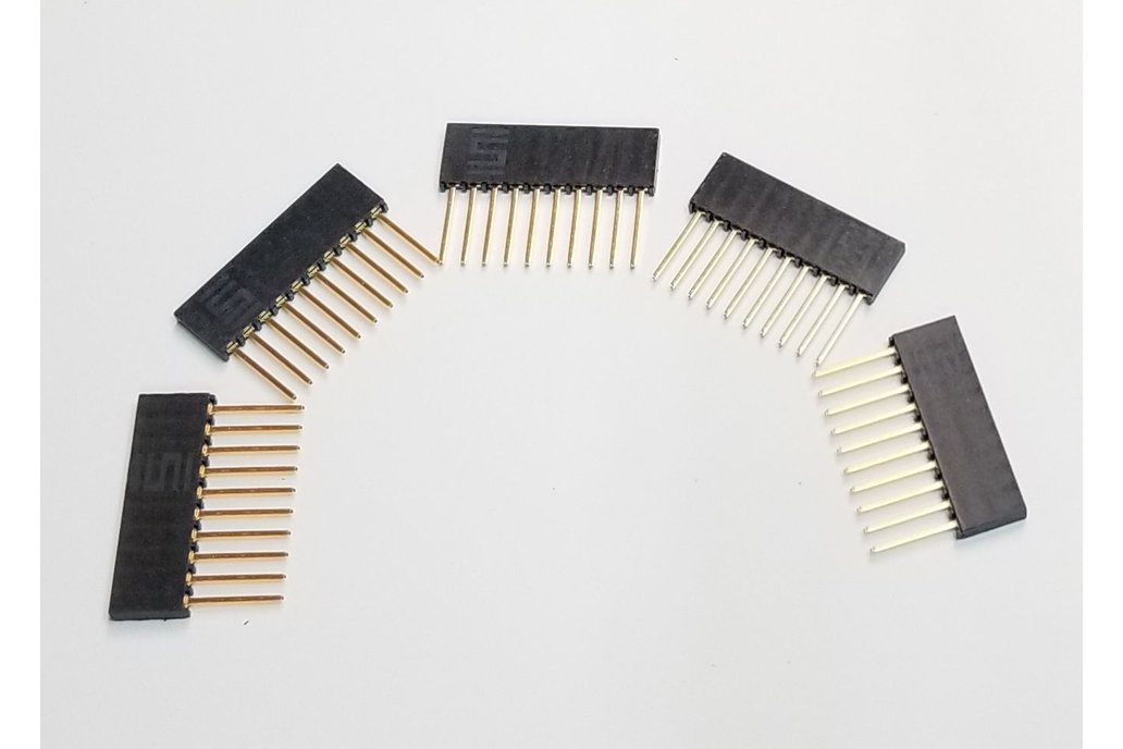 Pack of Five 10 Pin Stackable Headers 1