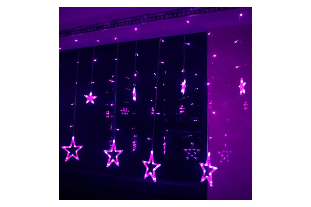 Christmas Lights Fairy Star LED Curtain String 3