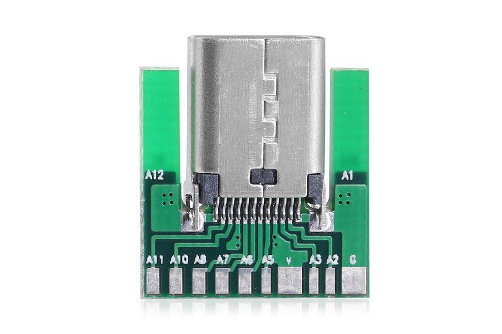 USB Type C Socket - SMT Inline Breakout Board 1