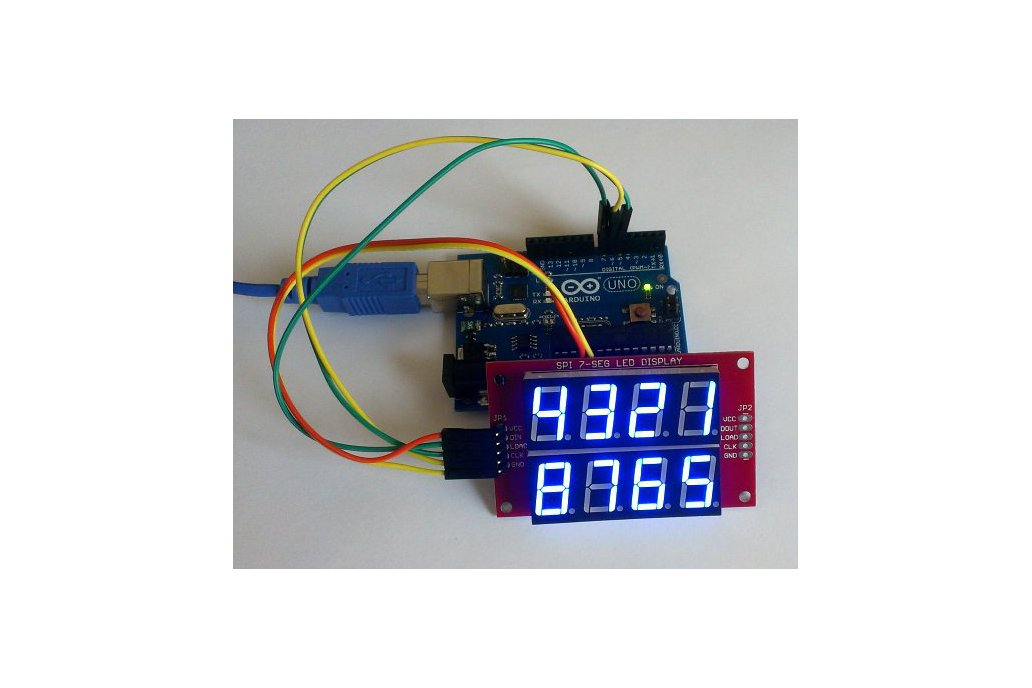 Double row 4-digit seven segment LED display-BLUE 1