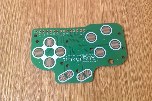 Game Boy DMG Button Controller PCB