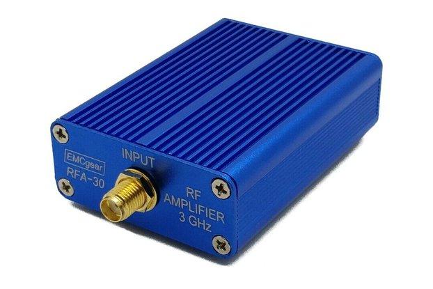 RF amplifier - 1 MHz to 3 GHz, 20 dB, 2x SMA, USB