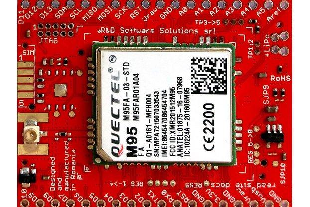 xyz-mIoT w. M95FA (ARM0 shield + 2G modem)