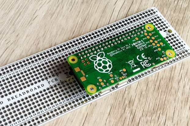 Breadboard PCB with Raspberry Pi support