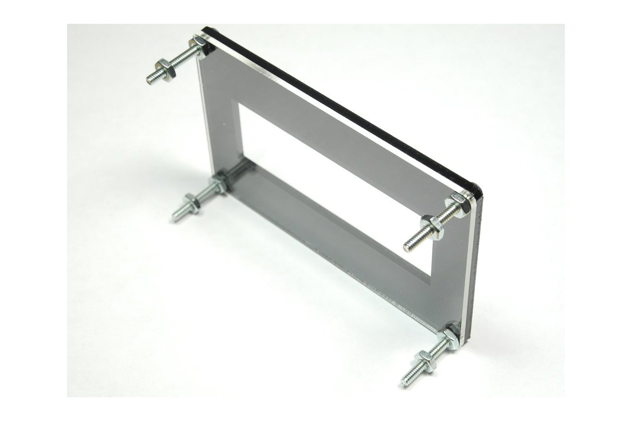 20x4 LCD Bezel with Clear Backplate