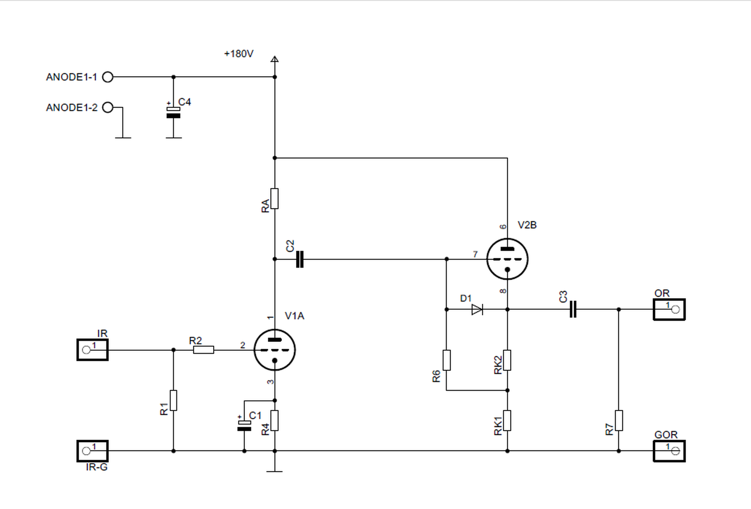 Universal Pcb For Tube Preamp Ccda Stage Ecc88 From Stereo24 On Tindie Nixie Clock Circuit Diagrams 7
