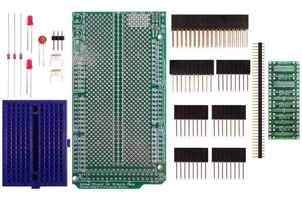 SchmartBoard|ez SOT 23/SC70 Arduino Mega Shield Kit 1