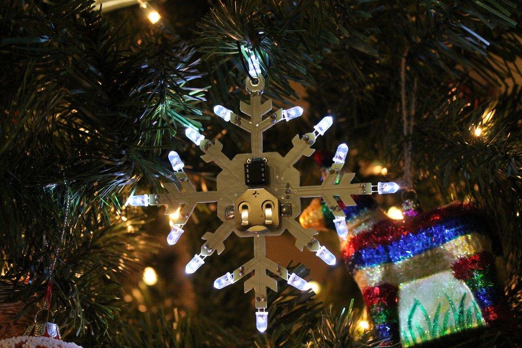 Shimmering Snowflake PCB Ornament Kit 1