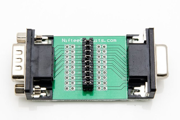 D-Sub Male/Female Interface Breakout Board - DB9