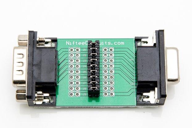 D-Sub Male/Female Interface Breakout Board - DB9