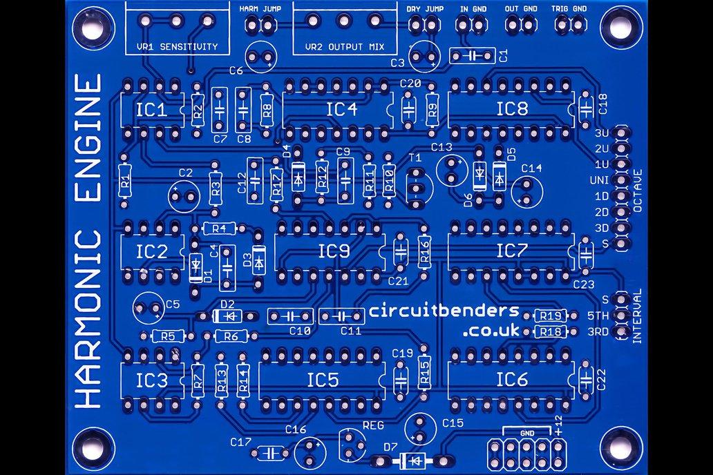 HARMONIC ENGINE - E&MM Harmony Generator clone PCB 2