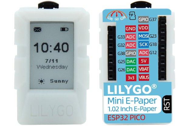 LILYGO® Mini E-Paper Core 1.02 Inch TF Card ESP32