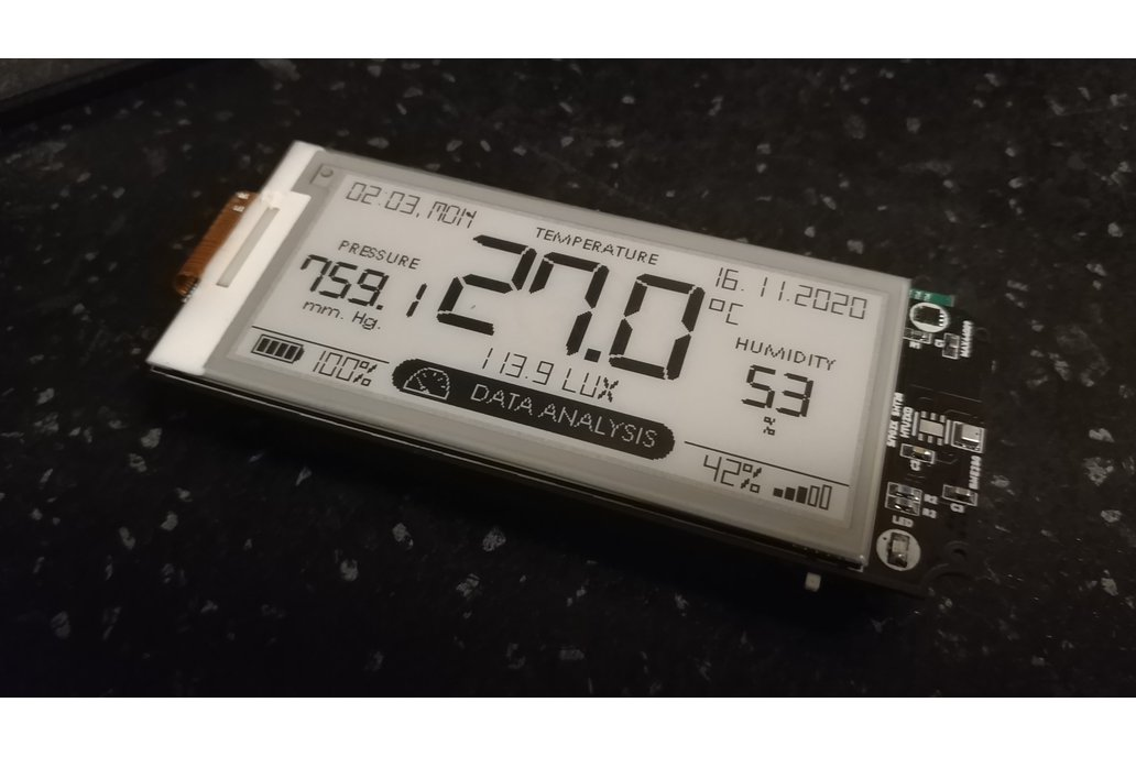 Wireless mini weather station + 2.9-inch e-paper 1