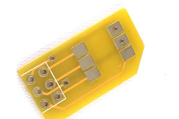 Micro SIM Adapter/Breakout w/ 6 Pin Header Pads