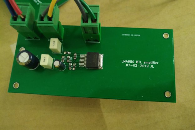 Tiny Amp, 10W class-AB chip amp kit