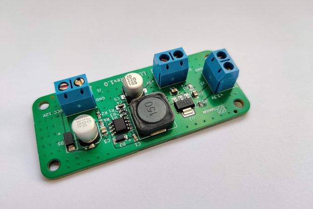Power supply, DC to DC buck converter regulator
