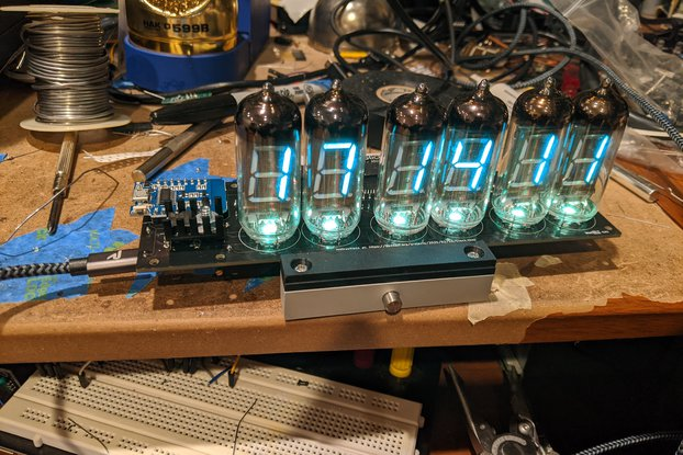 VFD 6 Digit Display via Arduino WeMos D1