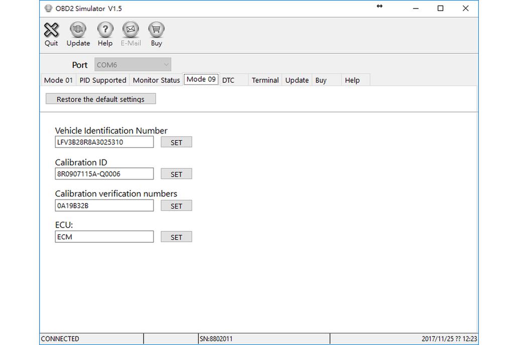 OBD-II ECU Simulator 2
