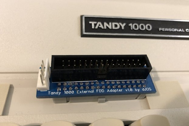 Tandy 1000 EX/HX External Floppy Drive Adapter