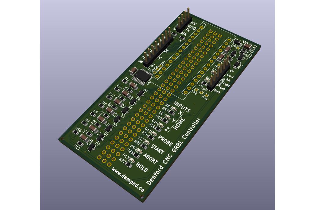 Denford Micro Mill CNC GRBL Control Board V0.0.2 1