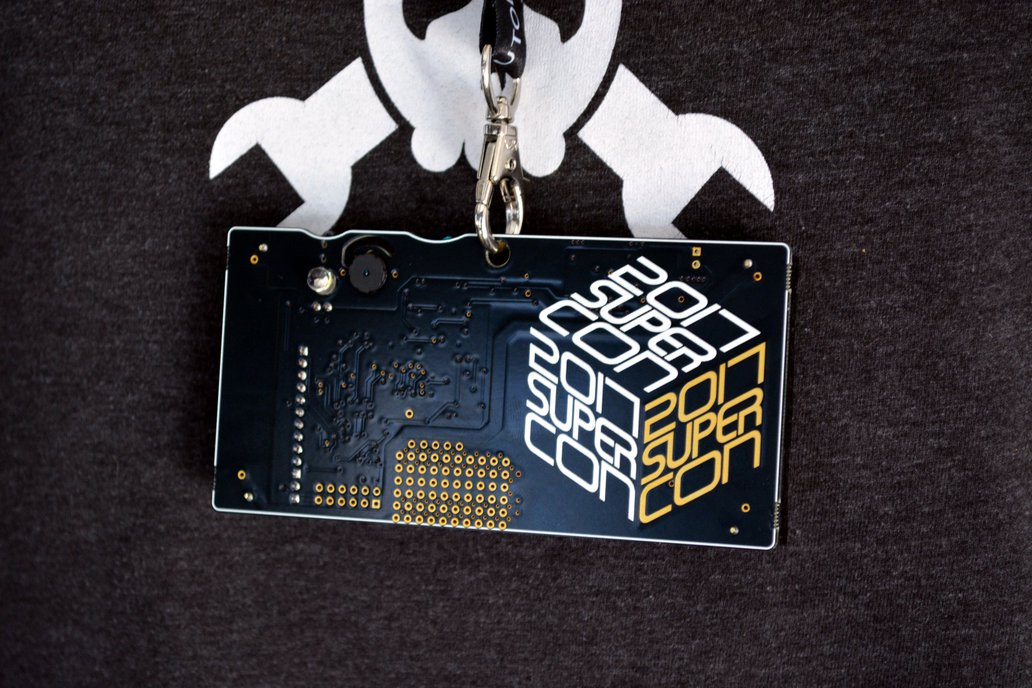 2017 Hackaday Superconference Badge 11