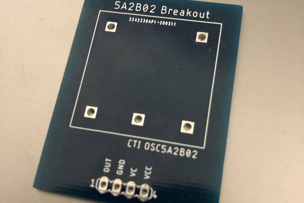 CTI OSC5A2B02 10Mhz OCXO Breakout Board