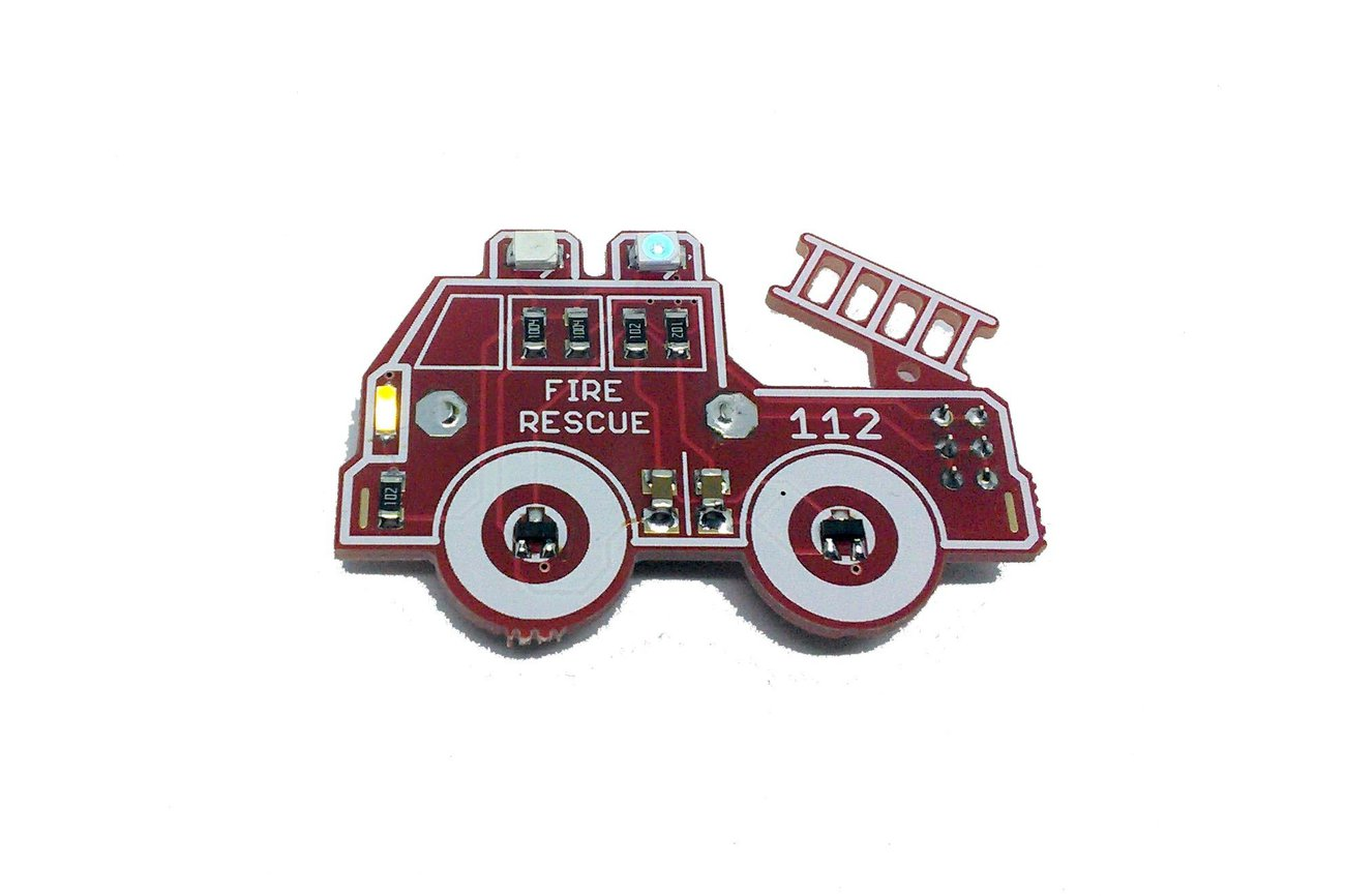 Fire Engine - LED learn to solder kit
