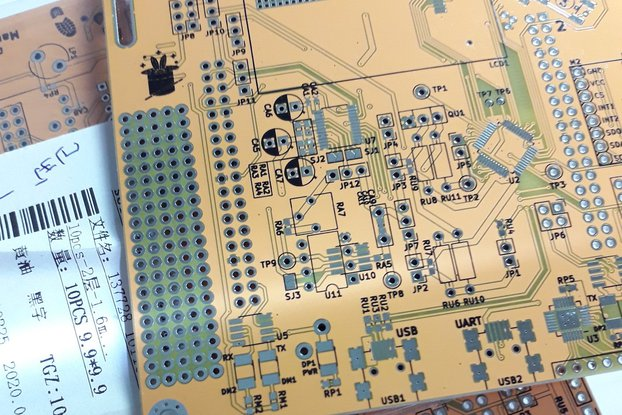 Yellow PCB Art (Bare board)