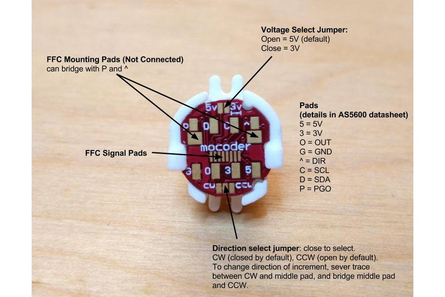 Mocoder, AS5600 Magnetic Encoder