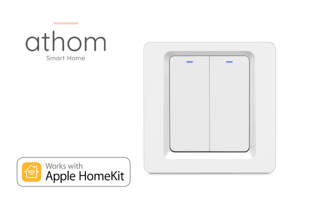 Pre Flashed HAA Homekit EU WiFi Switch 2 gang