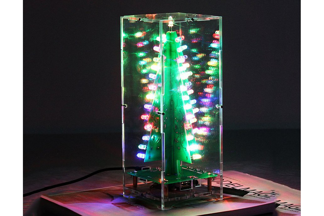 DIY Xmas Tree RGB Flash Light Support MP3(12368) 1