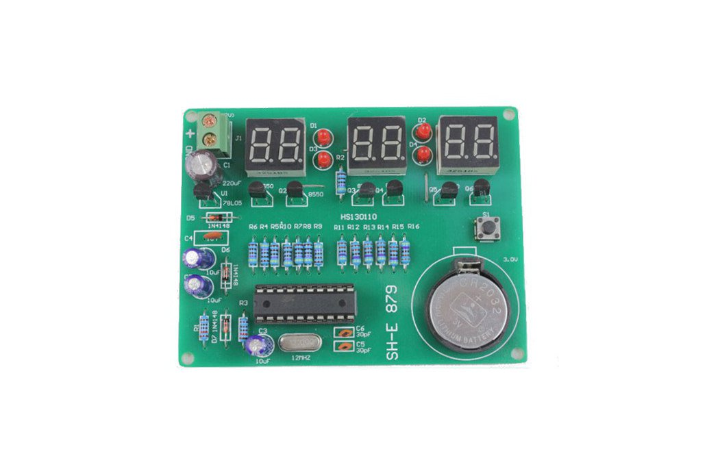 DIY 6 Digital LED Electronic Clock Kit  1