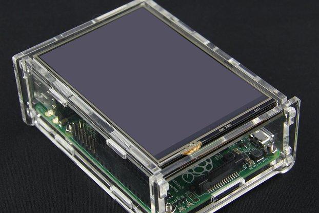 Transparent Acrylic Case TFT Screen Raspberry Pi B