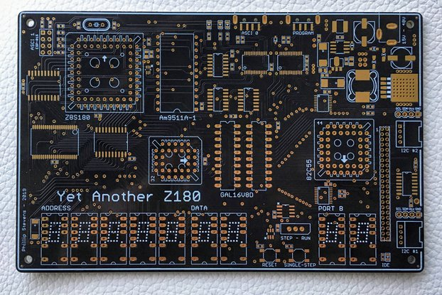 YAZ180 PCB - Modern Single Board Z80 Computer