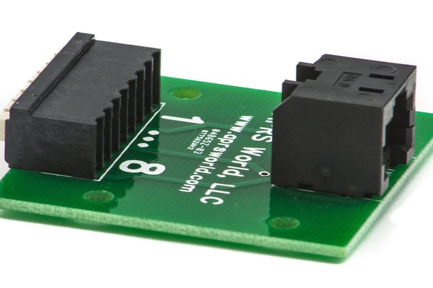 RJ-45 / 8P8C breakout board, screwless