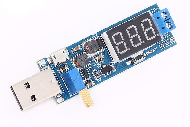 USB adjustable power supply Display  1.2V to 24V
