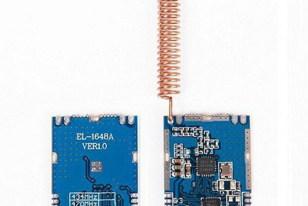 SI4438 transparent wireless transceiver module