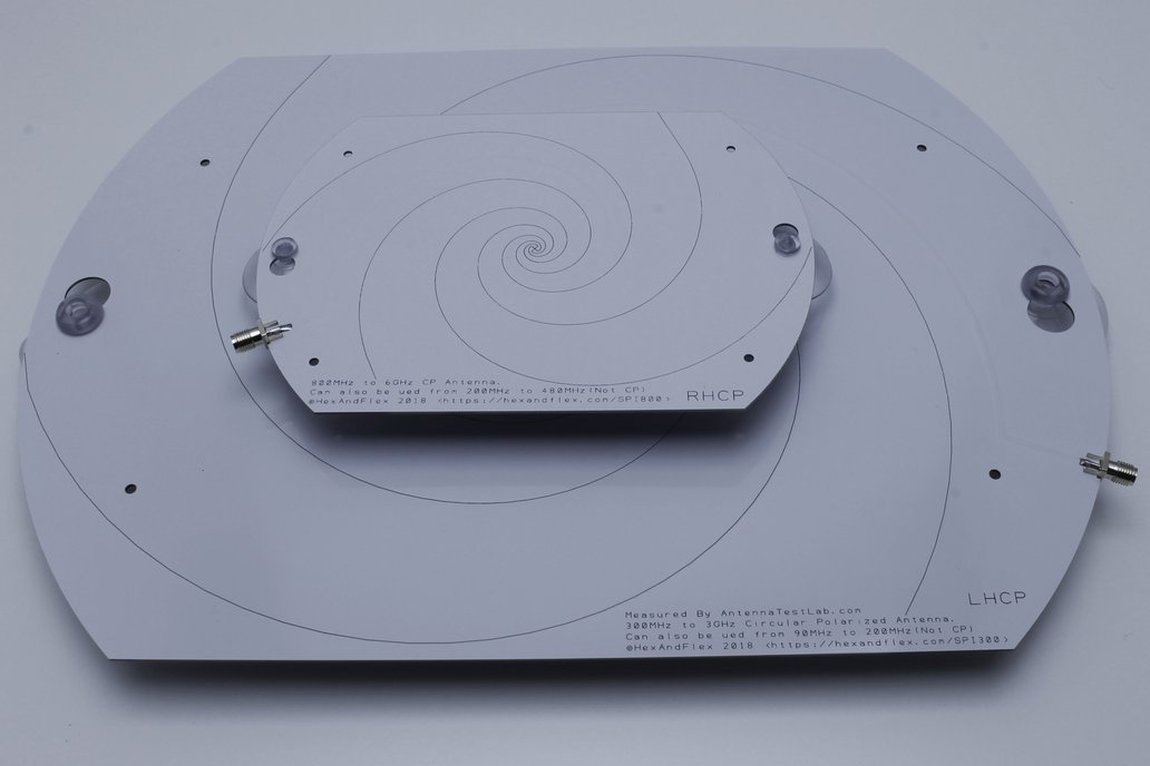 800MHz+ Log Spiral Antenna with Suction Mounts 2