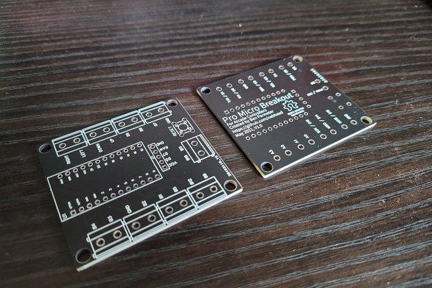 Pro Micro Breakout Arcade Controller PCB