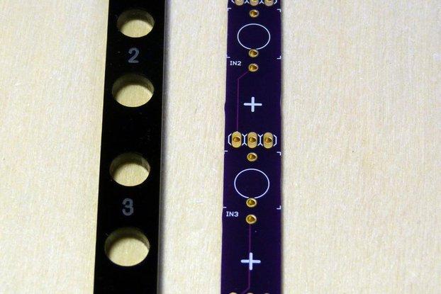 pMIX: 2HP 3-channel passive Eurorack mixer