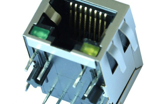 J1B121ZDD 10/100 Base-T 1 Port Ethernet RJ45 Jack