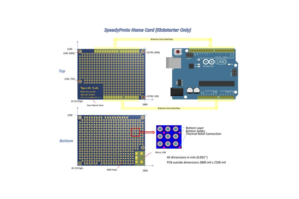 Prototype PCB Name Card x 10 1