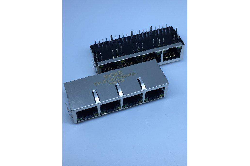 J8064D648A YKJD-801489NL 4 Port RJ45 Magnetic Jack 1
