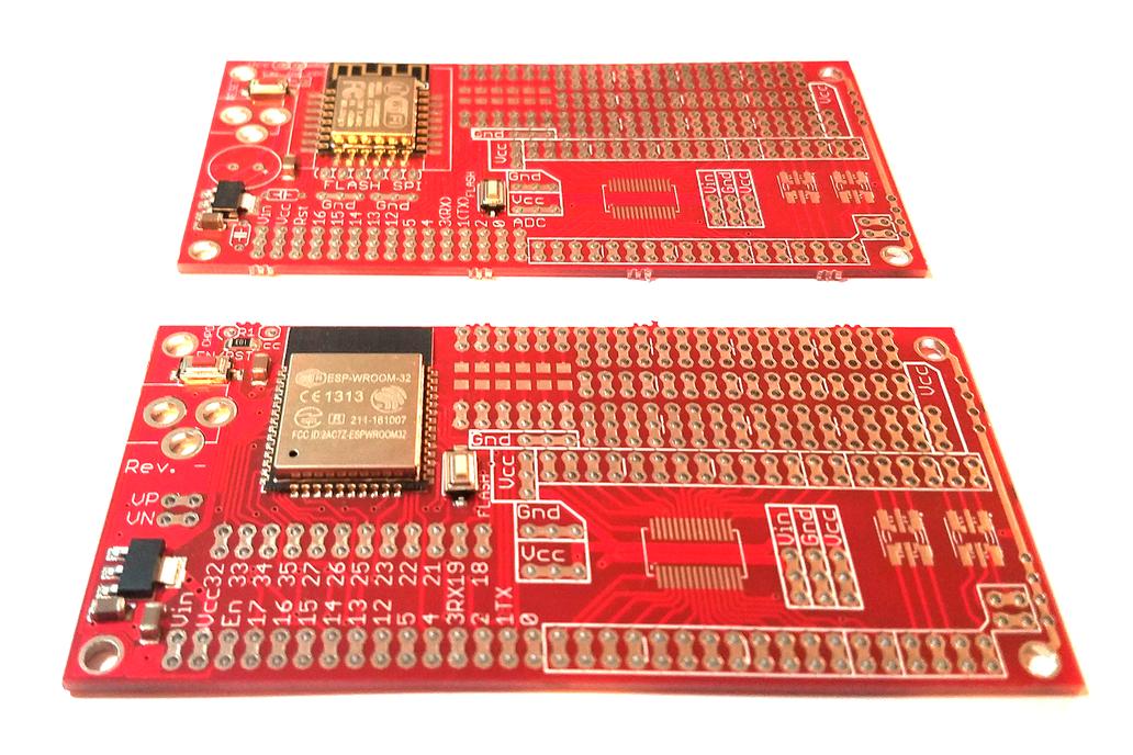 """2"""" x 4"""" ESP8266/ESP32 protoboard w/ESP mounted 1"""
